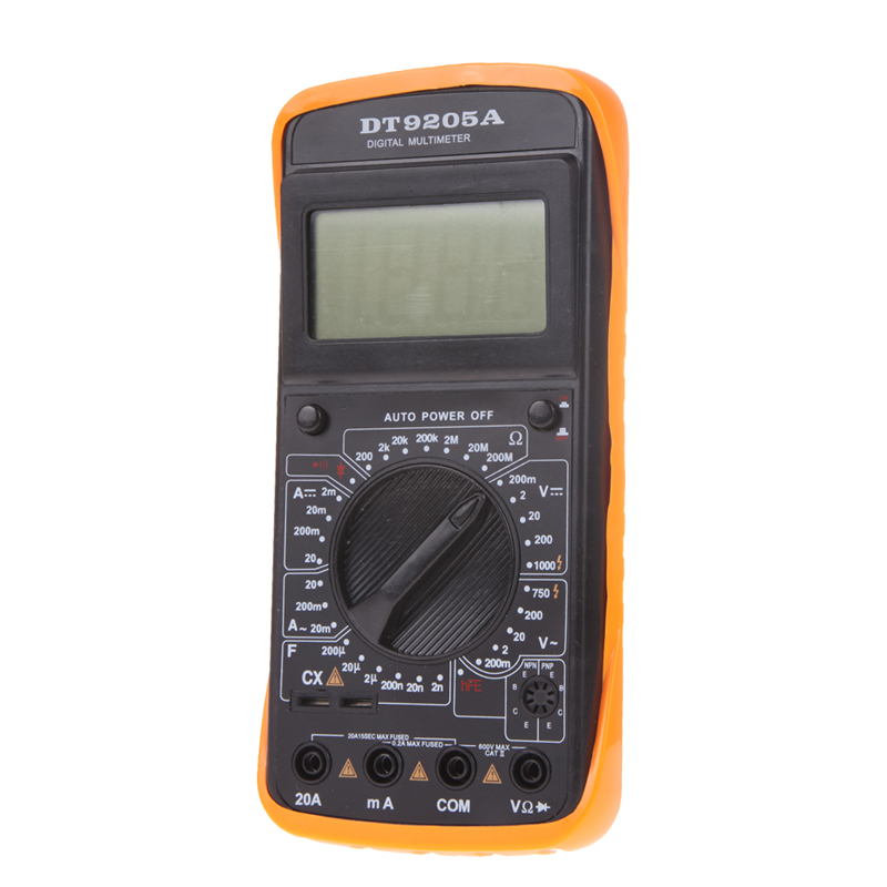 LCD Display AC DC OHM Volt Tester Professional Electric Handheld Digital Multimeter Voltmeter Ammeter Capacitance Tester