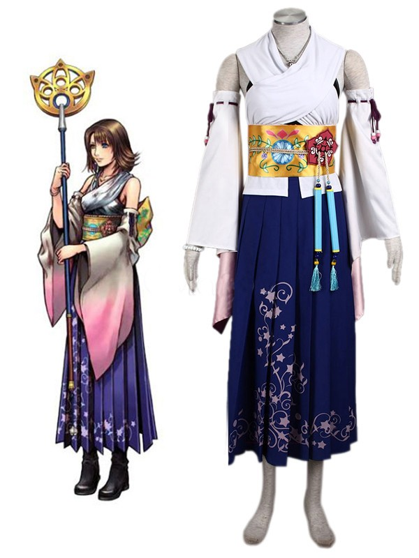 Final Fantasy Yuna Cosplay Kostüm Jewery tam set Tailor Made